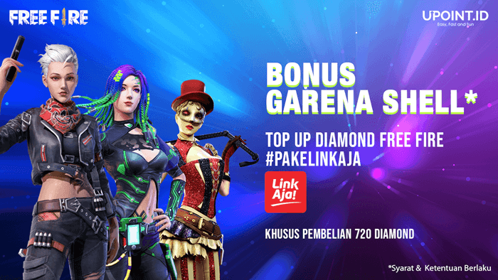 Cara Top Up Diamond Free Fire di Upoint.id