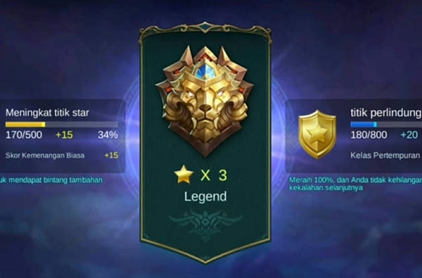 Tingkatan Legend Mobile Legends