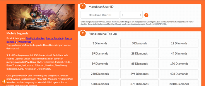 Cara top up diamonds ML di Codashop - 3 Cara Top Up Diamond Mobile Legends Dengan Pulsa All Operator