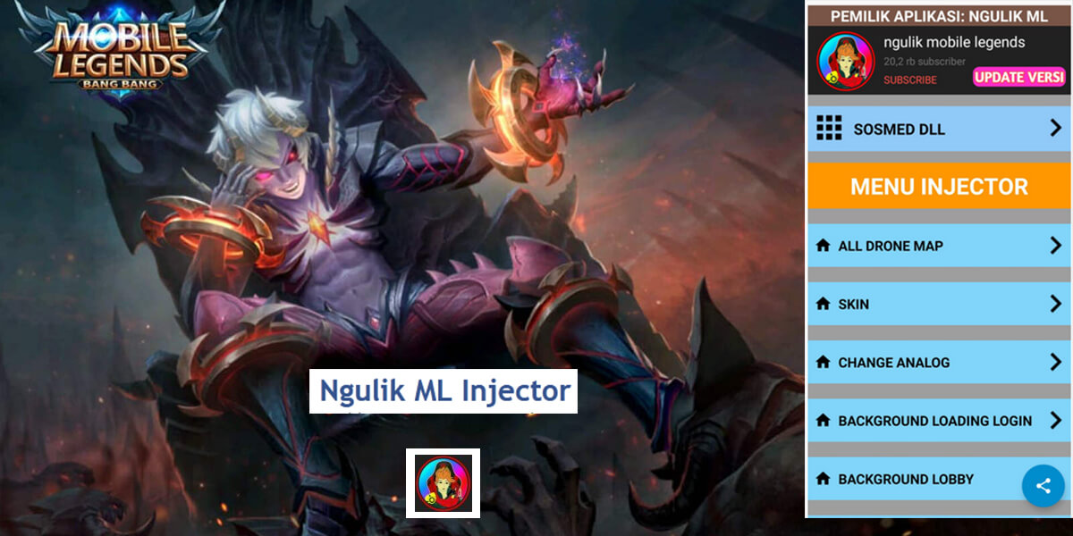 Ngulik ML Injector Apk1 - Download Ngulik ML Injector Apk v1.0 Full Unlocked Mobile Legends Terbaru 2020