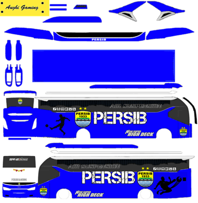 Livery BUSSID PERSIB SR2 XHD by Aughi Gaming - Livery Bussid Persib HD XHD SHD SDD Jernih Terbaru 2020